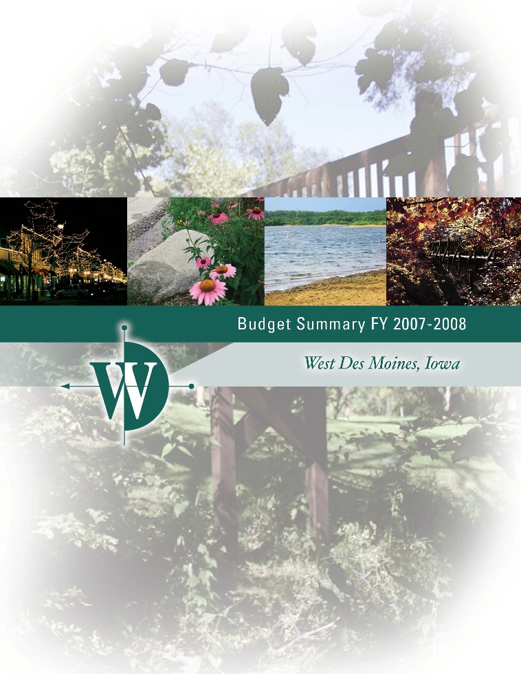 FY 07-08 Budget Cover