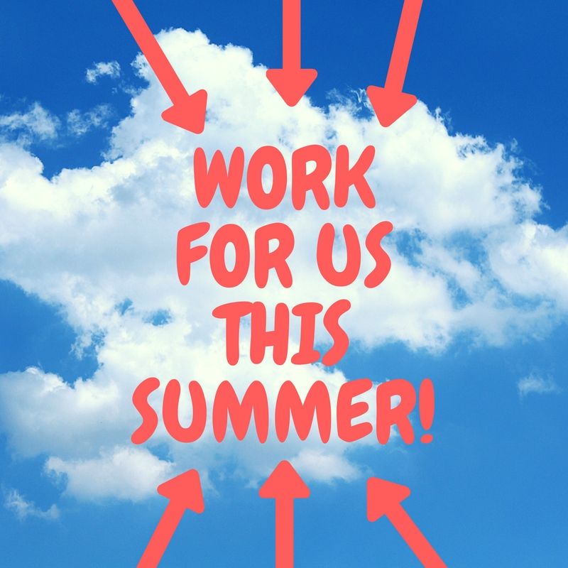 WORK FOR US THIS SUMMER!