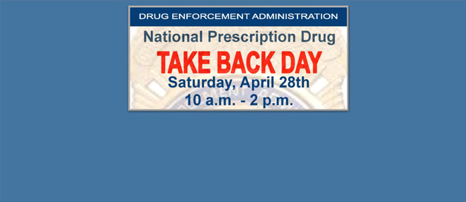 Turn in unused/expired prescription drugs for safe disposal