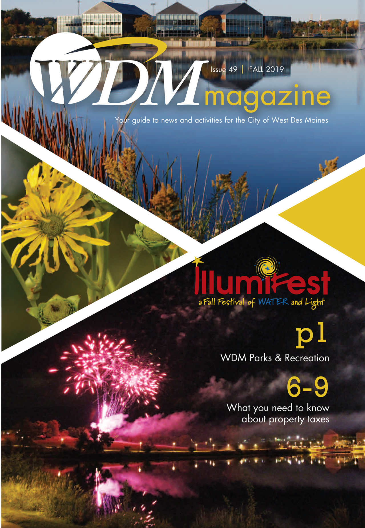 Cover image of the Fall 2019 West Des Moines magazine