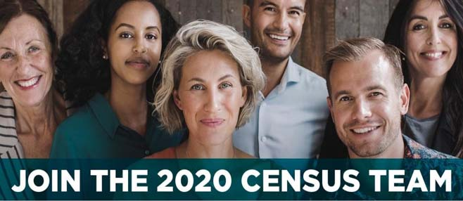 Apply Online at 2020census.gov/jobs