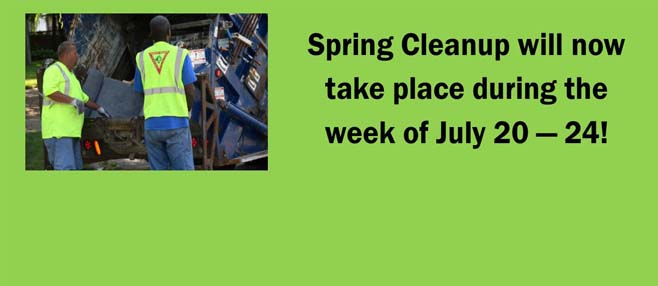 new dates set for spring cleanup