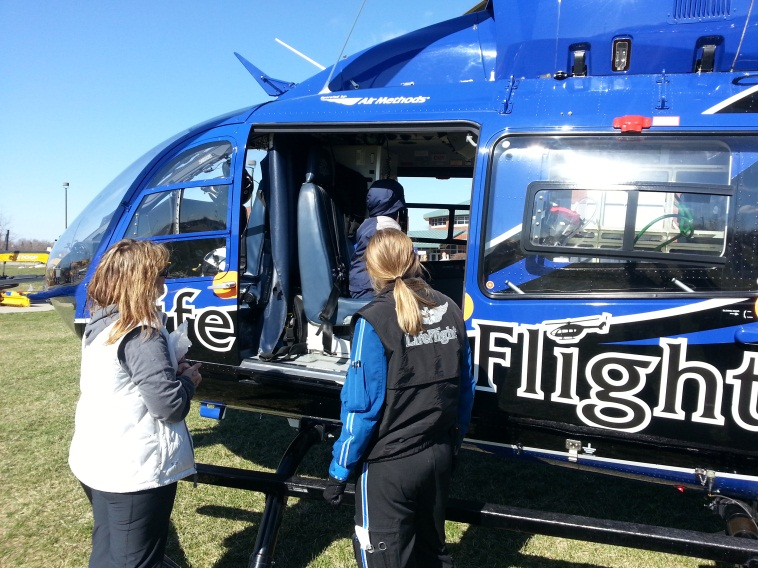 Amy with Lifeflight