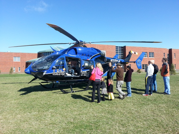 Lynnette with Lifeflight