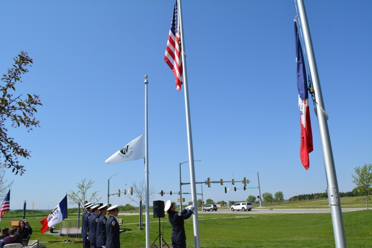 Honor guard and flag