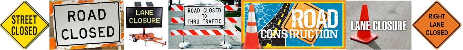 Street Lane Closure Banner