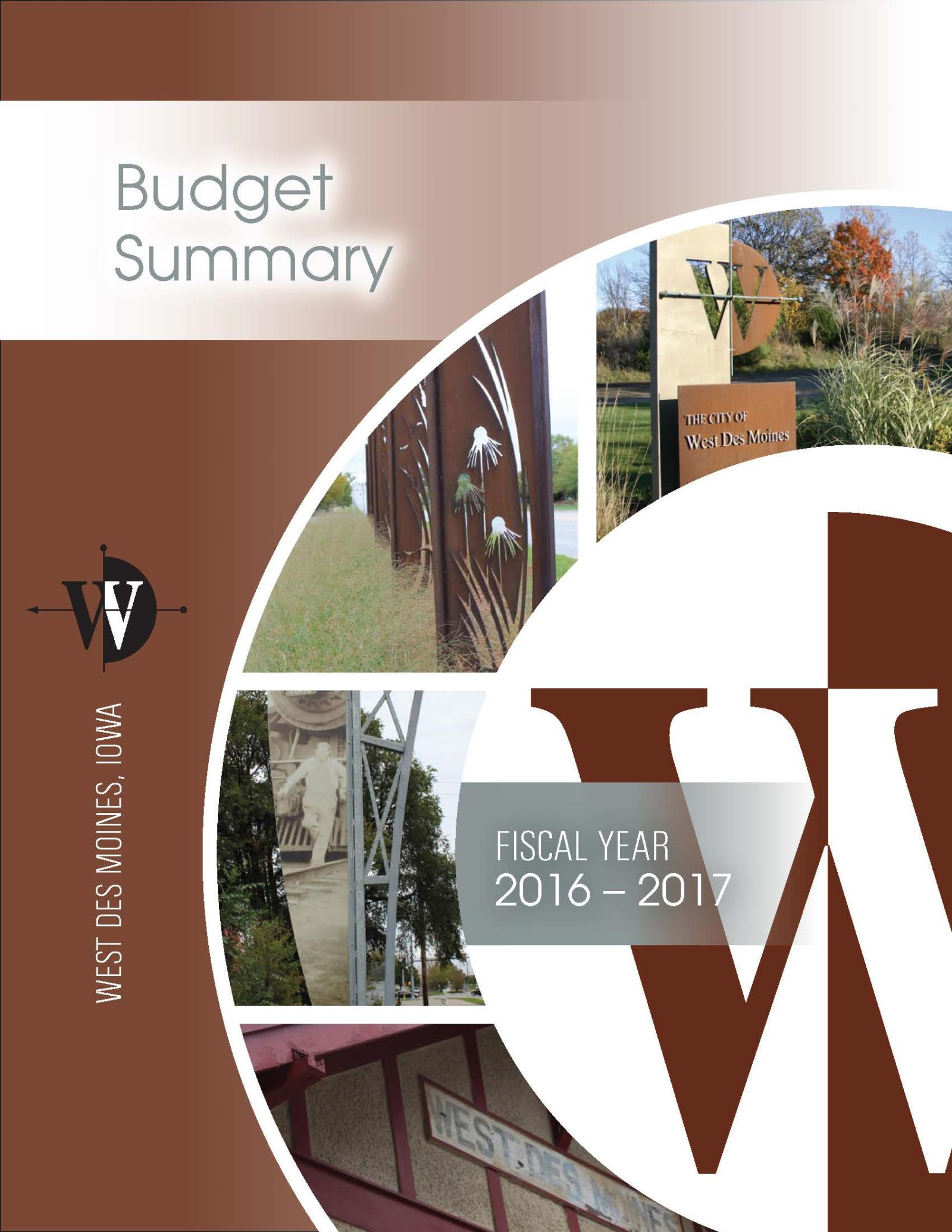 1-Budget Summary Cover