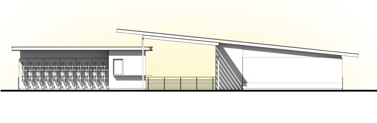Boathouse South Elevation