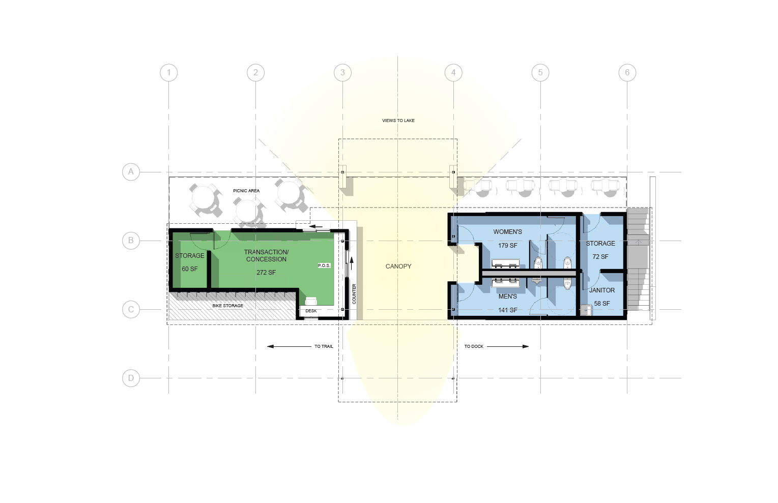 Boathouse Upper Level Floor Plan
